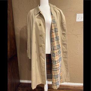 EUC Burberry Nova Check Plaid Trench Coat Jacket